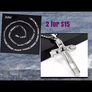 Other - Men's cross necklace
